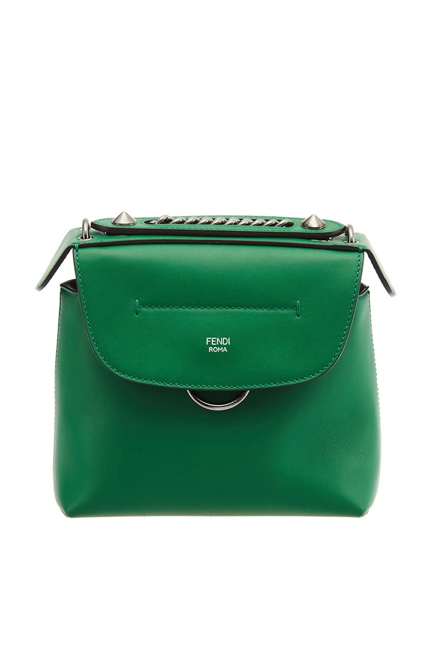 Fendi Зеленый кожаный рюкзак Back to School