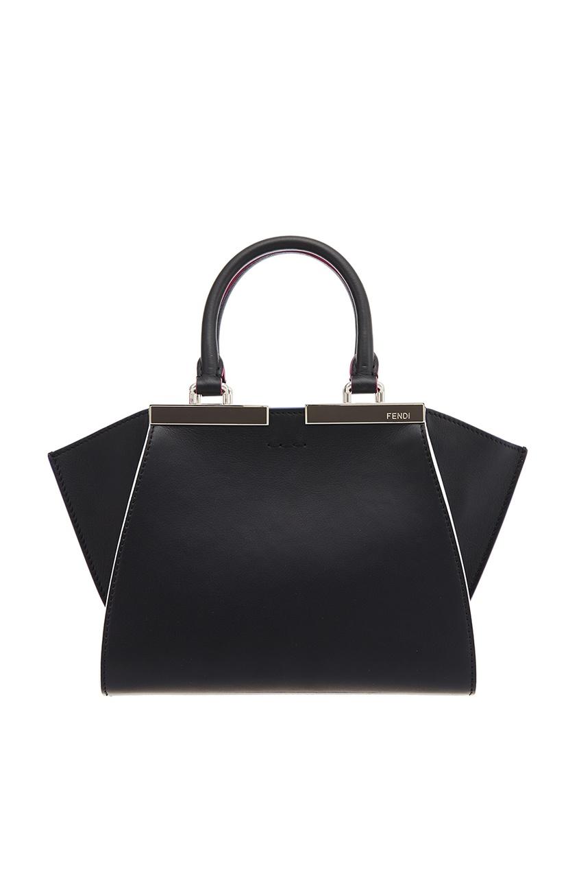 Fendi Черная кожаная сумка 3Jours Mini сумка fendi demi jours