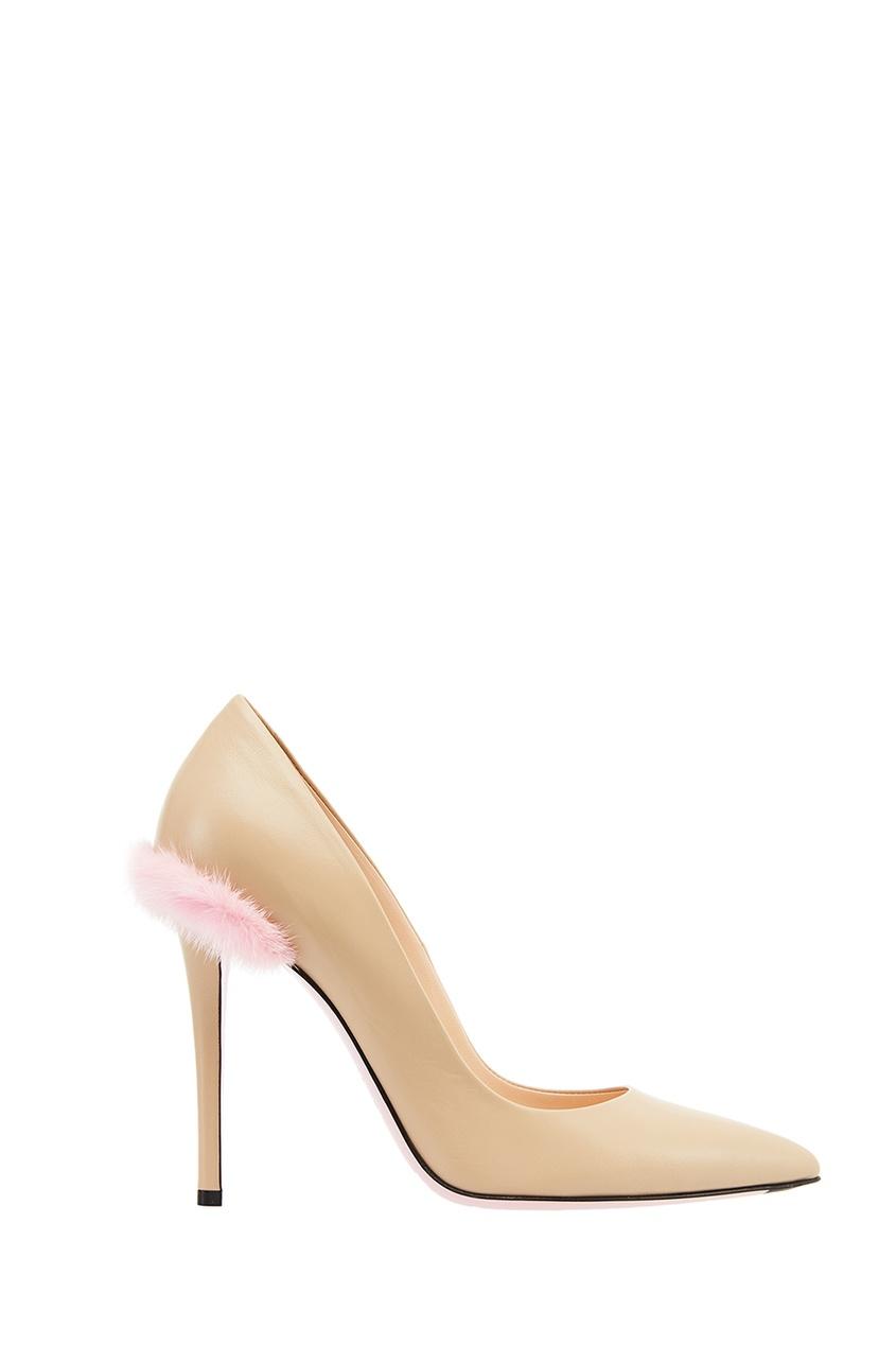 женские туфли fendi, бежевые