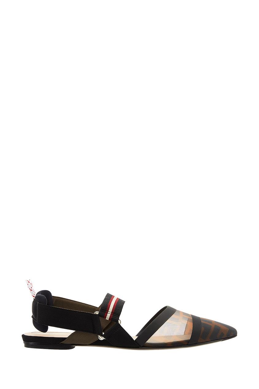 Комбинированные туфли с логотипами