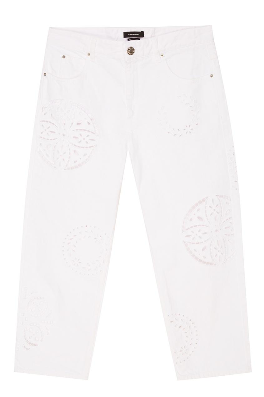 Isabel Marant Белые джинсы с перфорированными орнаментами