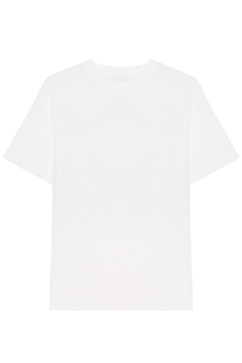 Prada Белая футболка с аппликацией buff перчатки рыболовные buff sport series water gloves solar orange св оранжевый