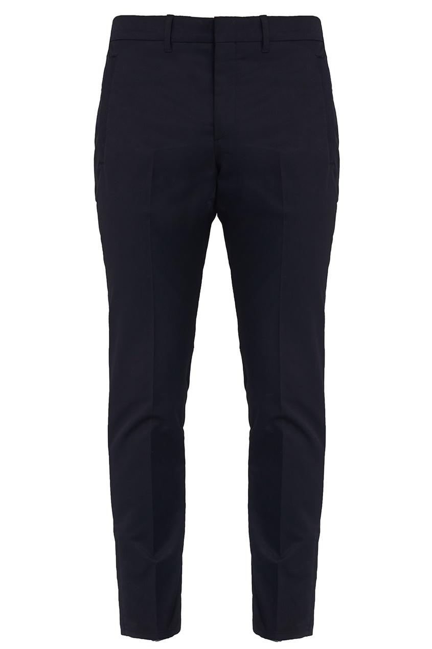 Prada Укороченные черные брюки бермуды из джерси