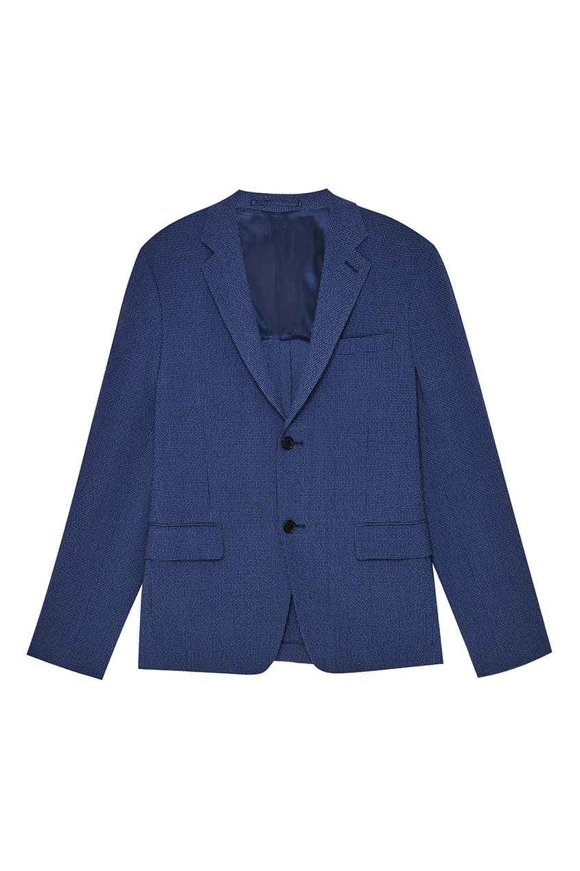 Фактурный синий пиджак от Prada