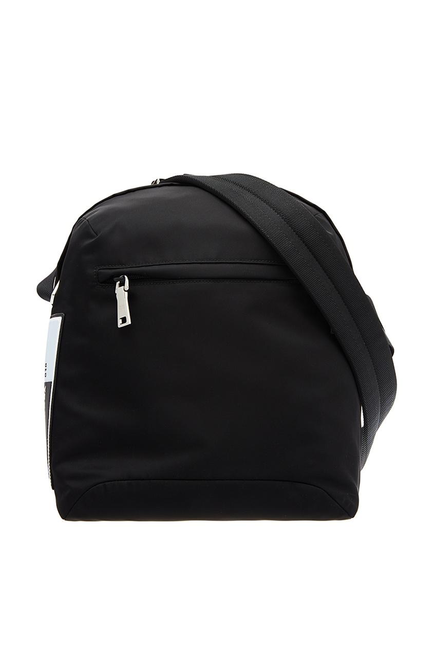 Купить со скидкой Черный рюкзак с контрастной деталью