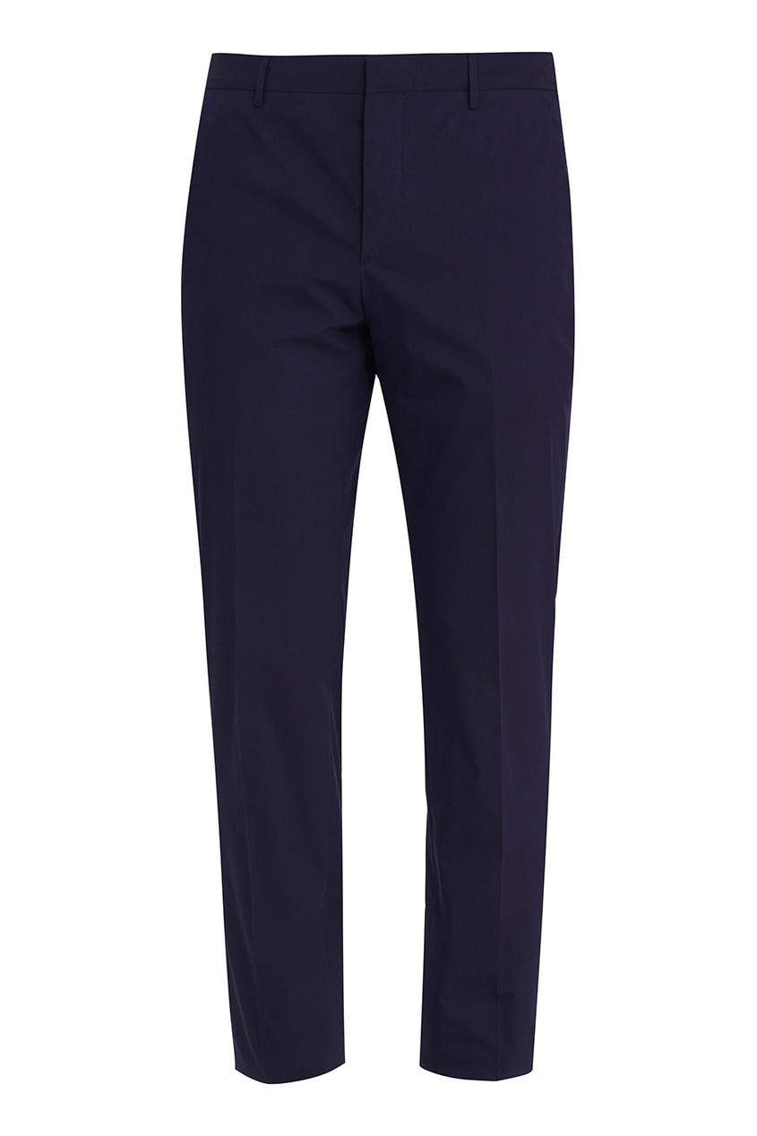 Prada Зауженные синие брюки