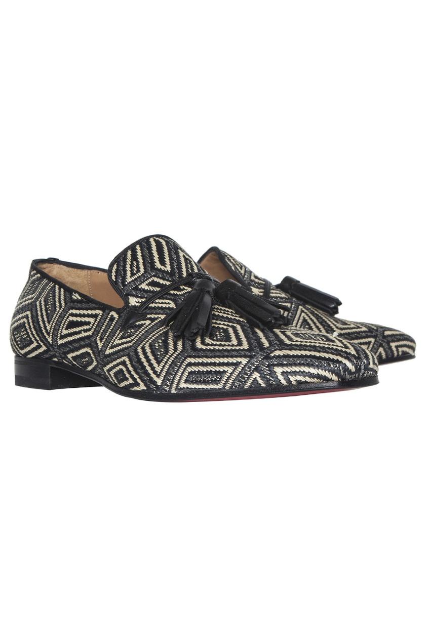 Туфли из полиэстера и вискозы Daddy Flat Panama Geometrico/GG