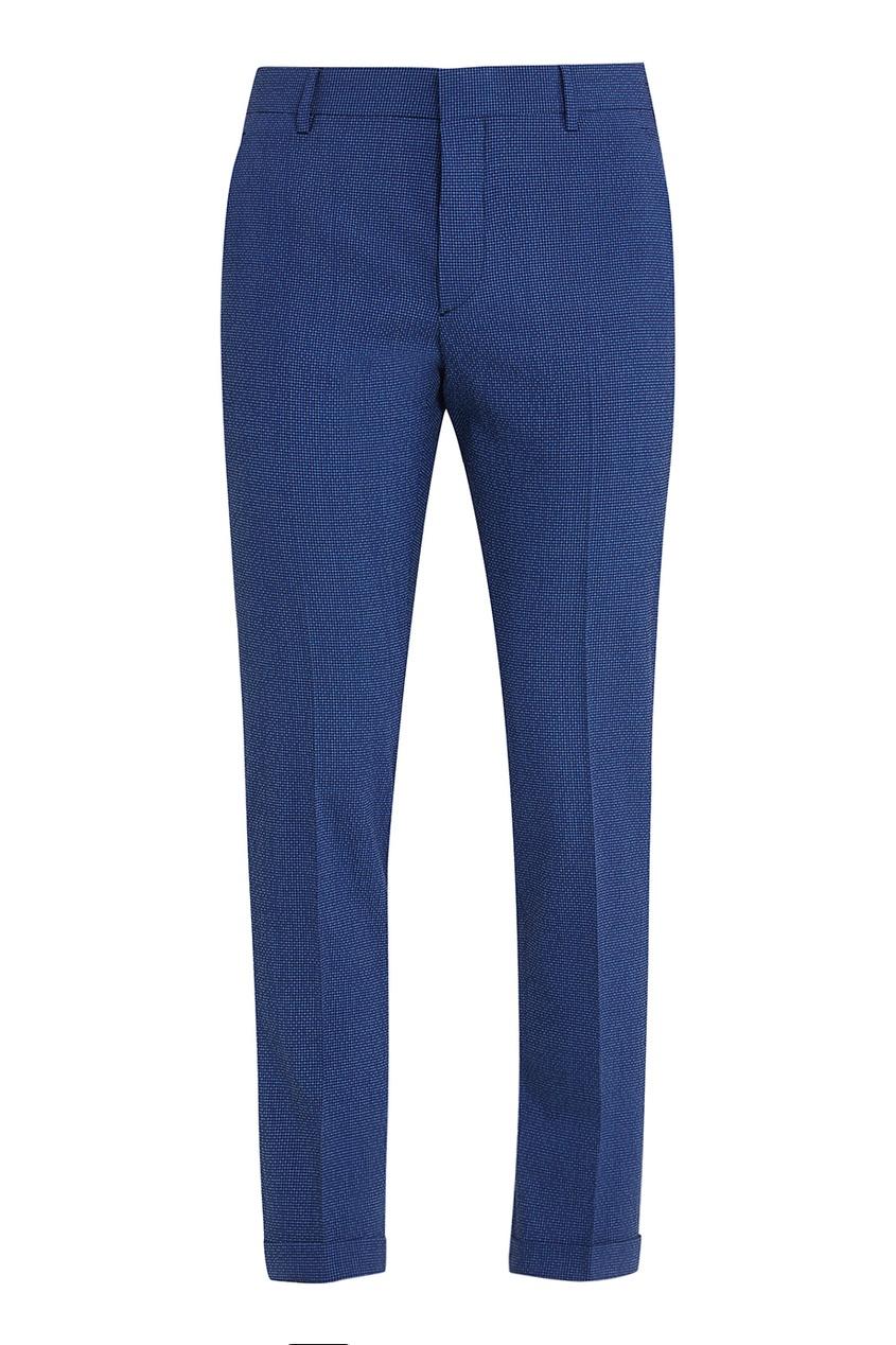 Prada Зауженные синие брюки зауженные брюки без карманов terra брюки зауженные