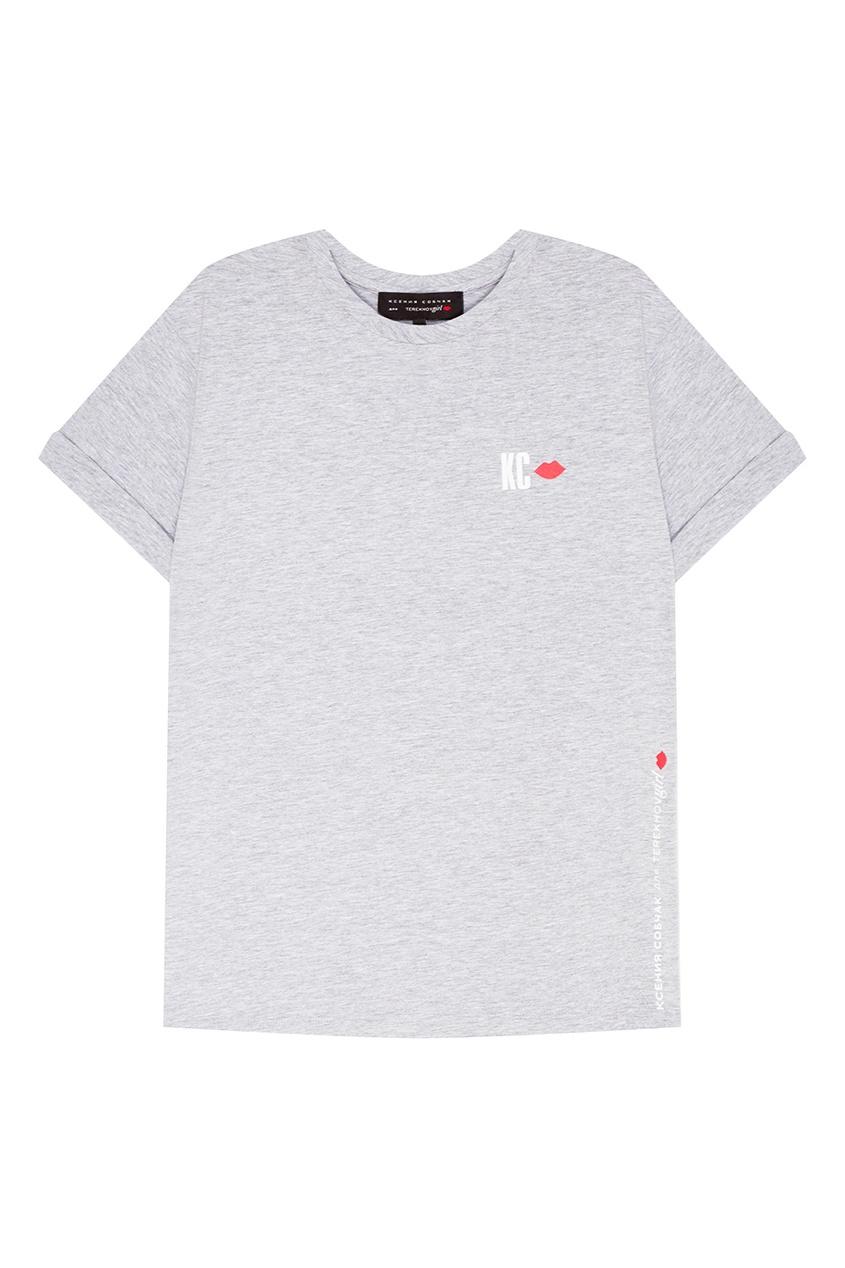 Terekhov Girl Серая меланжевая футболка футболка terekhov girl terekhov girl te024ewakhs2