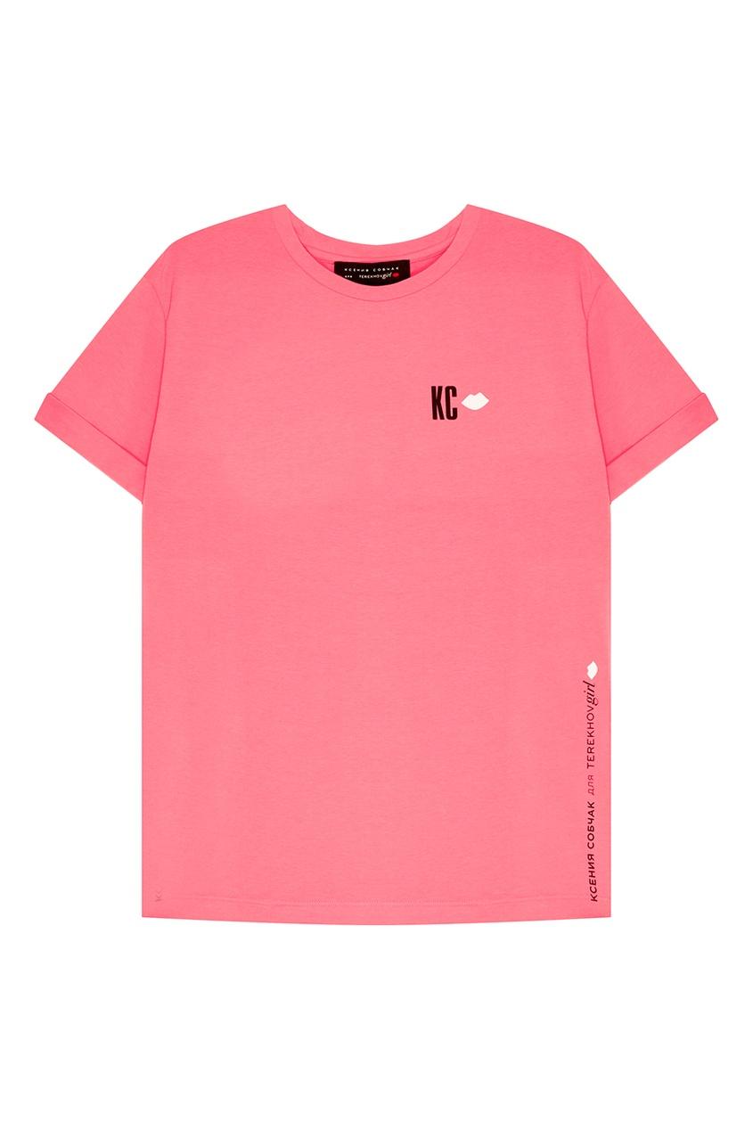 Terekhov Girl Розовая хлопковая футболка футболка terekhov girl terekhov girl te024ewakhs2