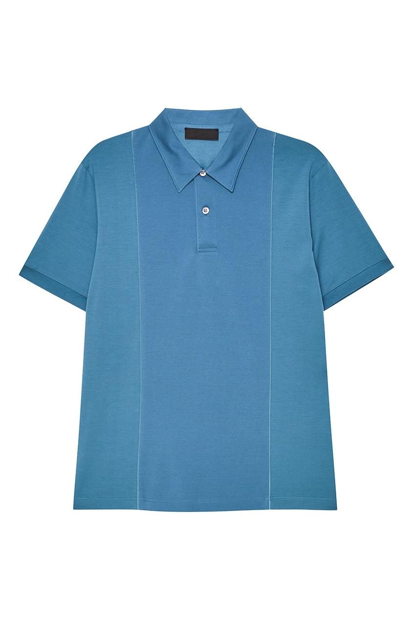 Prada Голубая футболка-поло одежда