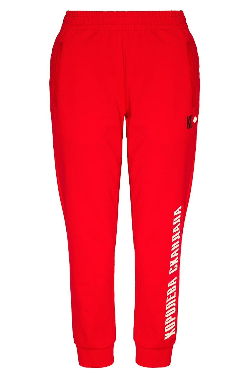 Terekhov Girl Красные брюки с надписью terekhov girl платье с воланами по бокам