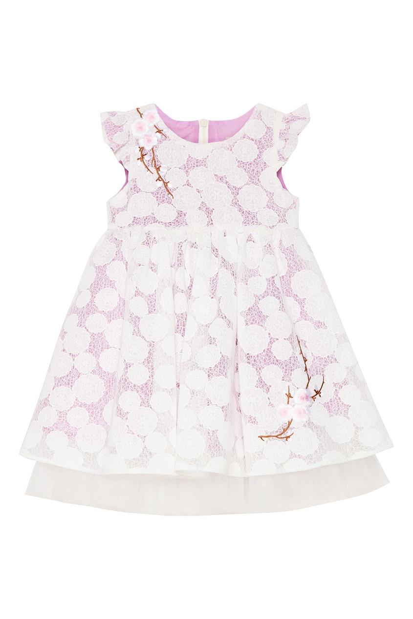Купить со скидкой Пышное платье из гипюра Silvie
