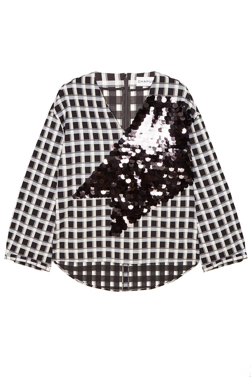 Chapurin Хлопковая блузка с пайетками