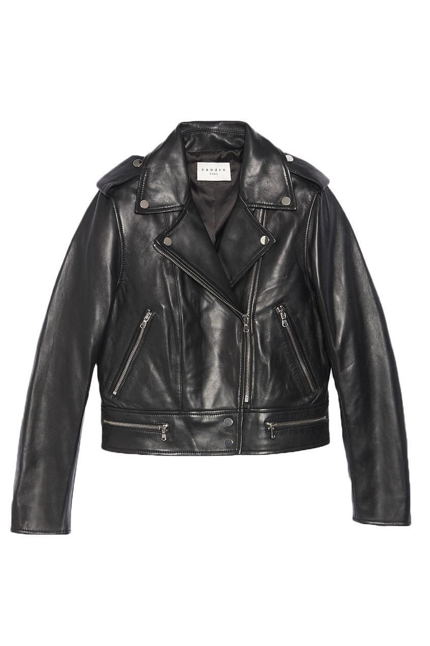 Sandro Байкерская куртка с погонами