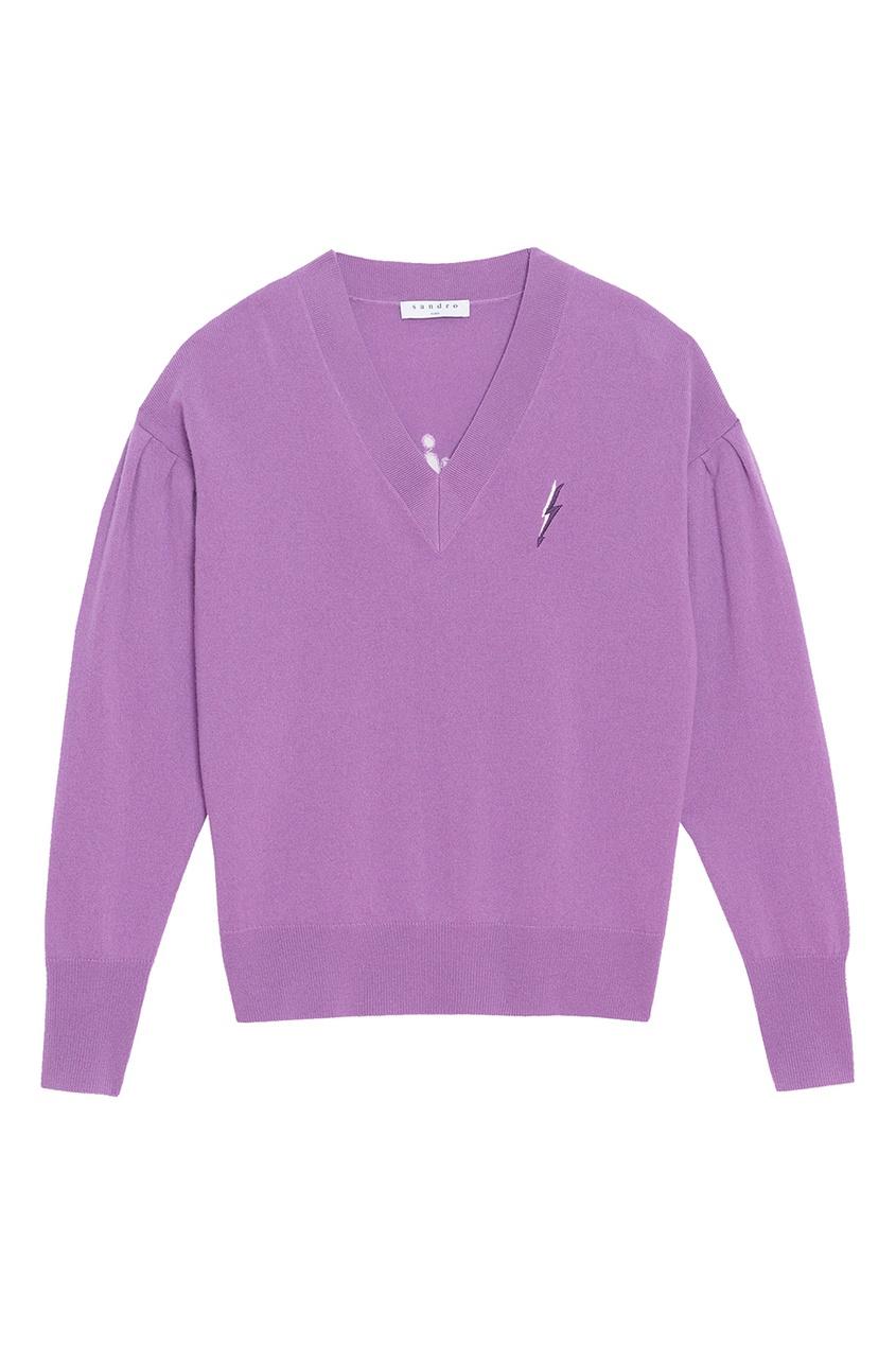 Sandro Фиолетовый пуловер с вышивкой пуловер с вышивкой petite cherry 3 12 лет