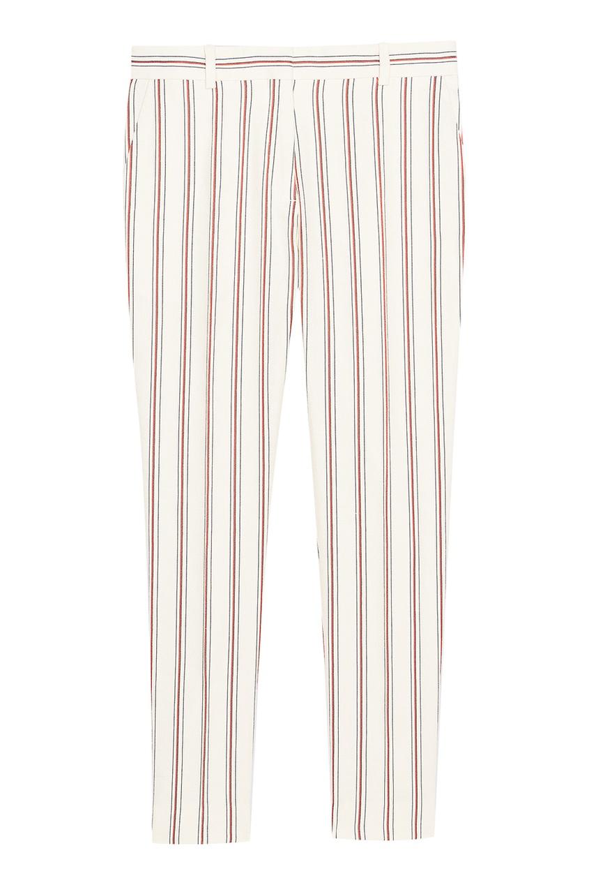 Укороченные брюки в полоску