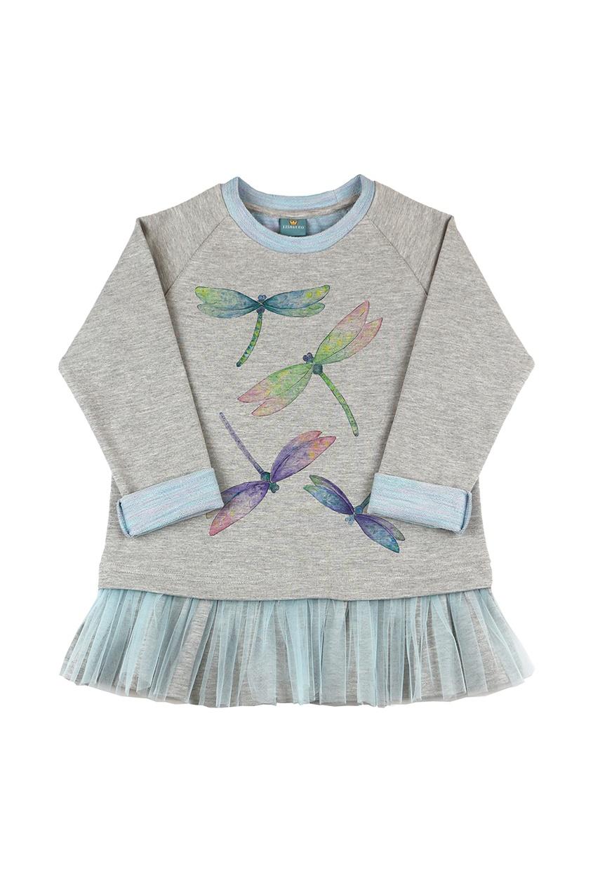 Хлопковое платье со стрекозами