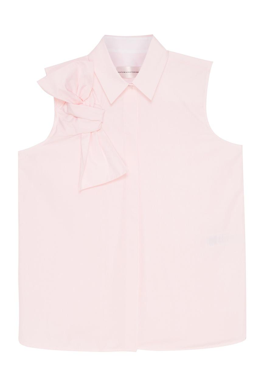 Victoria Beckham Розовая блузка с бантом капри victoria beckham капри