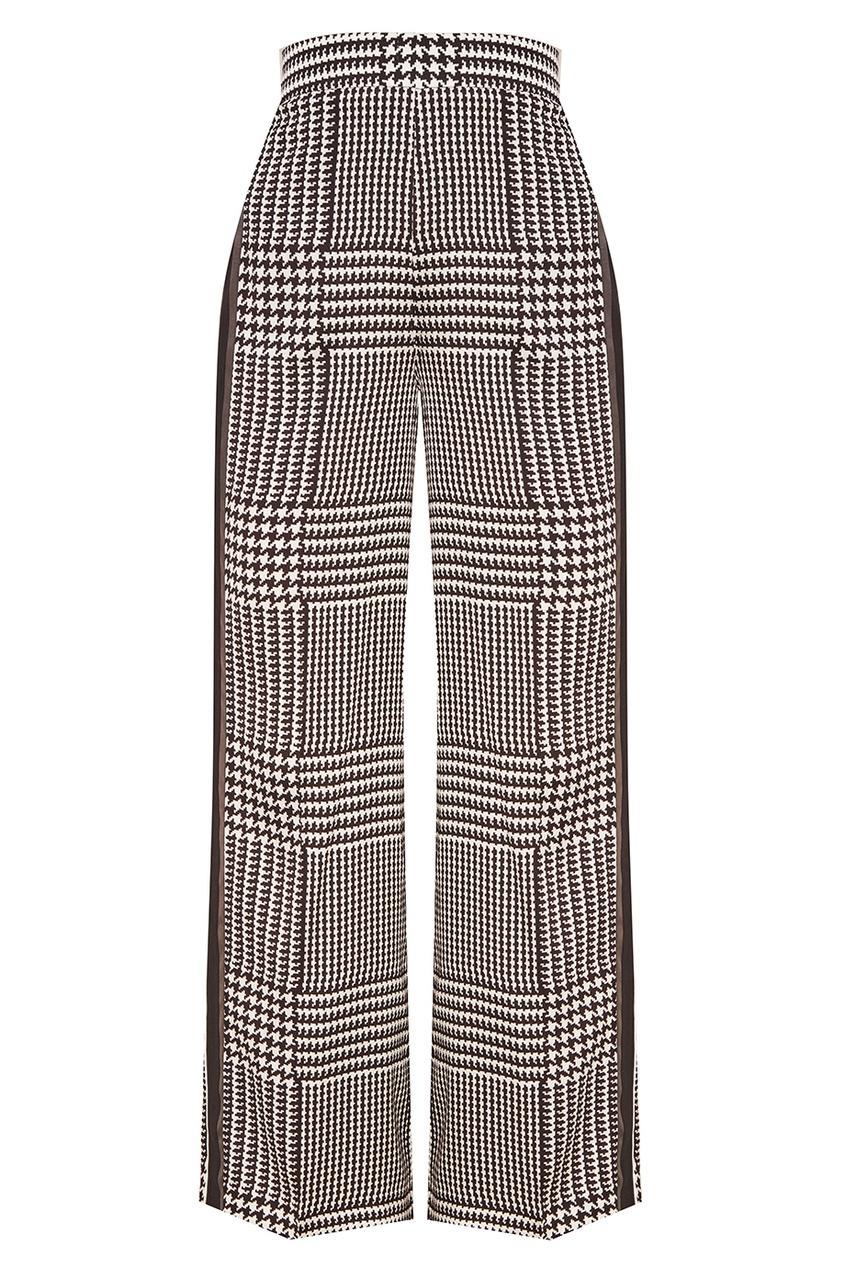 Victoria Beckham Шелковые брюки в клетку lefard сервиз selia 500 мл