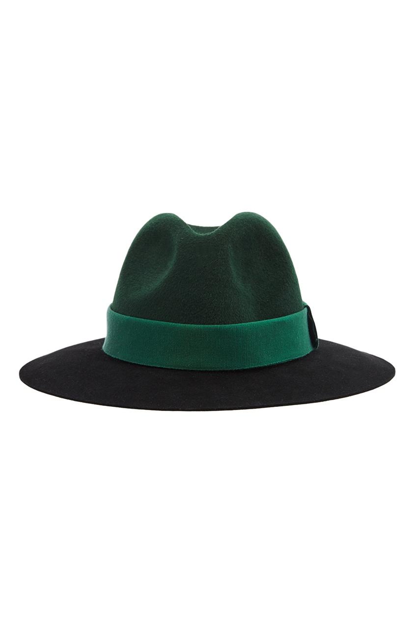 Зеленая фетровая шляпа