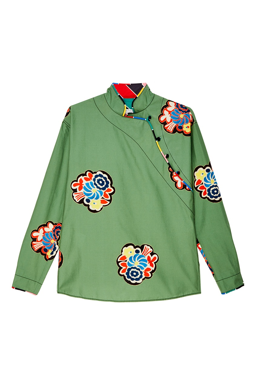 Philosophy Di Lorenzo Serafini Зеленая блузка с яркими цветами цена