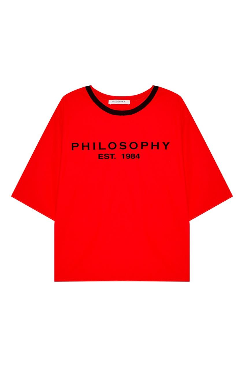 Philosophy Di Lorenzo Serafini Красная футболка с логотипом цена