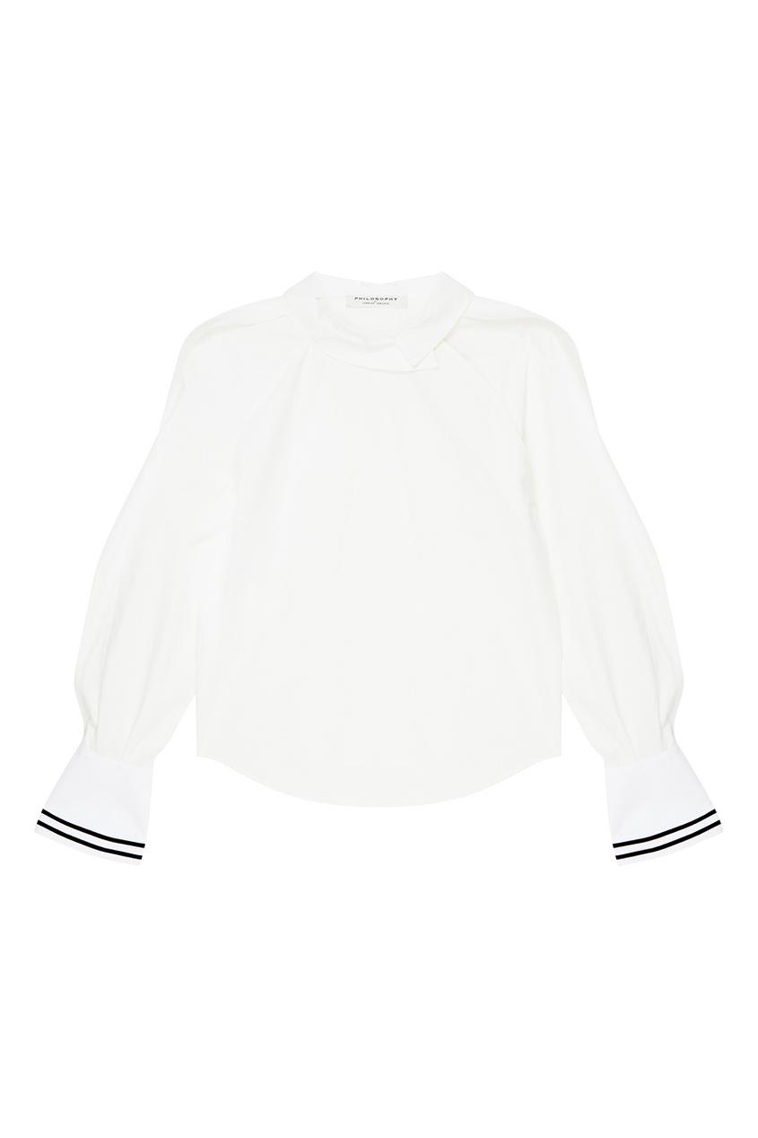 Philosophy Di Lorenzo Serafini Асимметричная хлопковая блузка цена