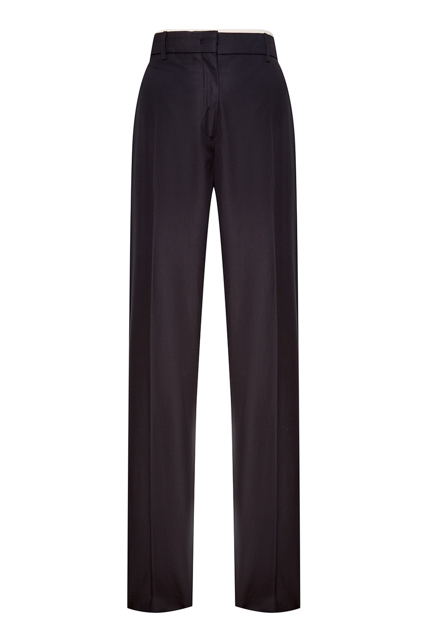 No.21 Черные хлопковые брюки-чинос no 21 черные хлопковые носки с перьями
