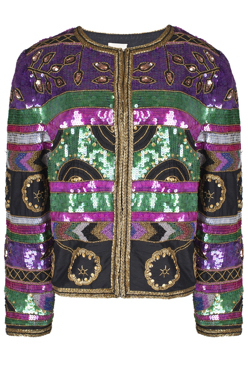 Шелковый жакет с вышивкой пайетками (80-е гг.)