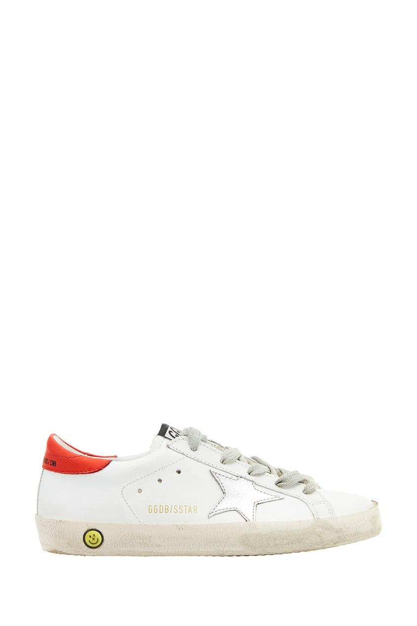 Golden Goose Deluxe Brand Kids Белые кожаные кеды Superstar adidas x pharrell little kids superstar supercolor