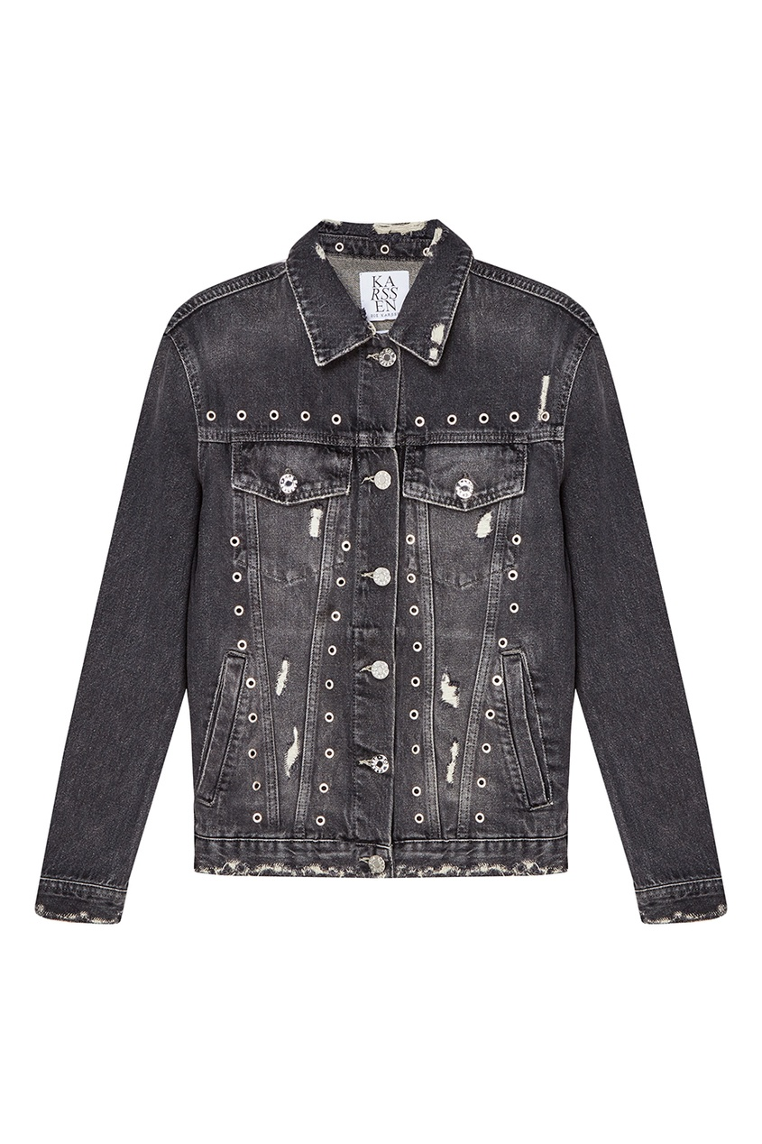 Zoe Karssen Джинсовая куртка с люверсами рубашка джинсовая zoe karssen zoe karssen zo006ewxcb58