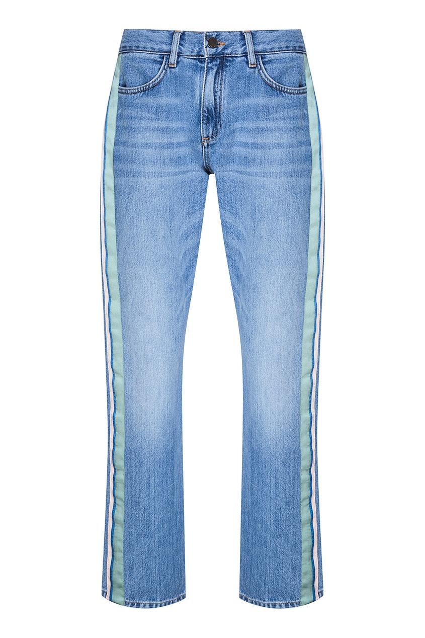 Victoria Beckham Голубые джинсы с лампасами капри victoria beckham капри
