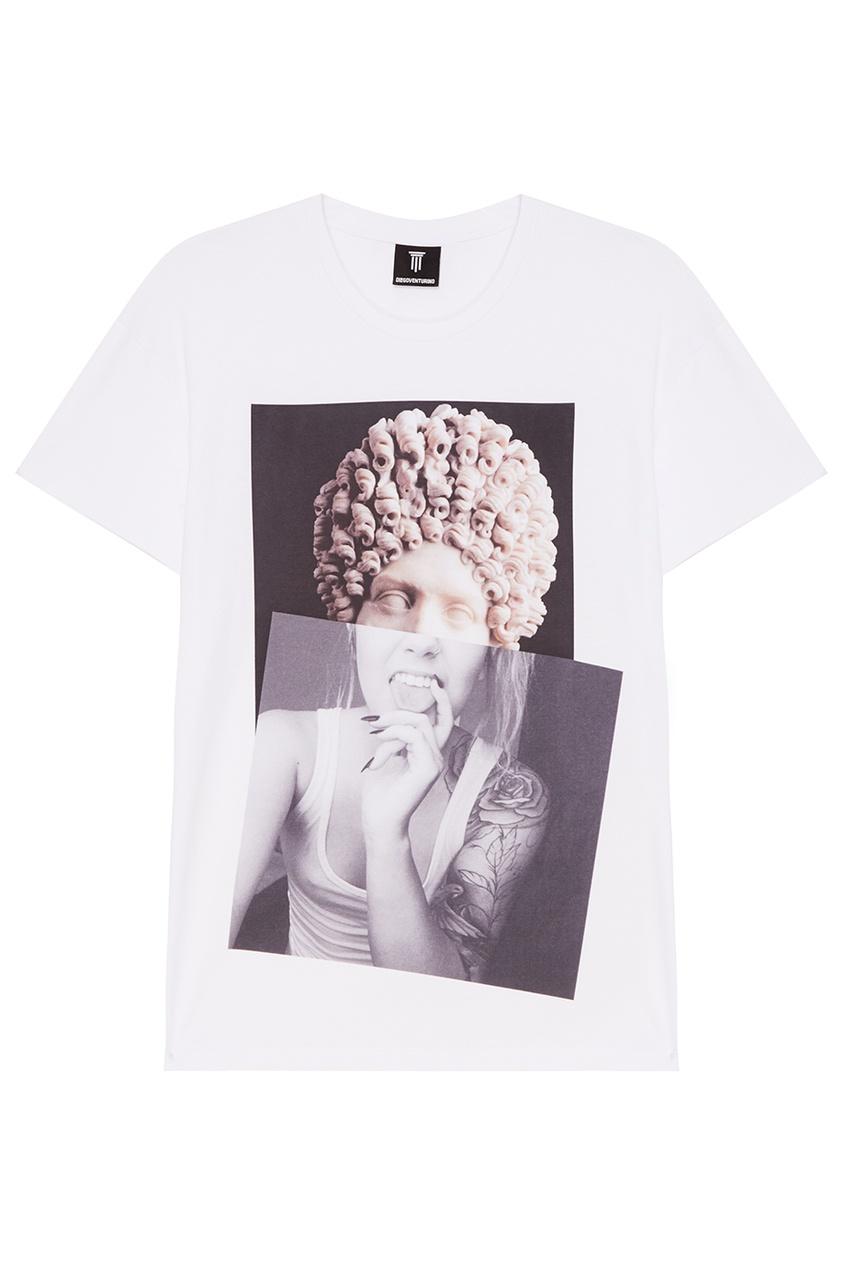 Diego Venturino Белая футболка с коллажным принтом футболка белая catimini ут 00011611