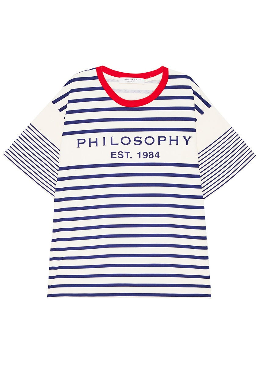 Philosophy Di Lorenzo Serafini Хлопковая футболка с логотипом цена