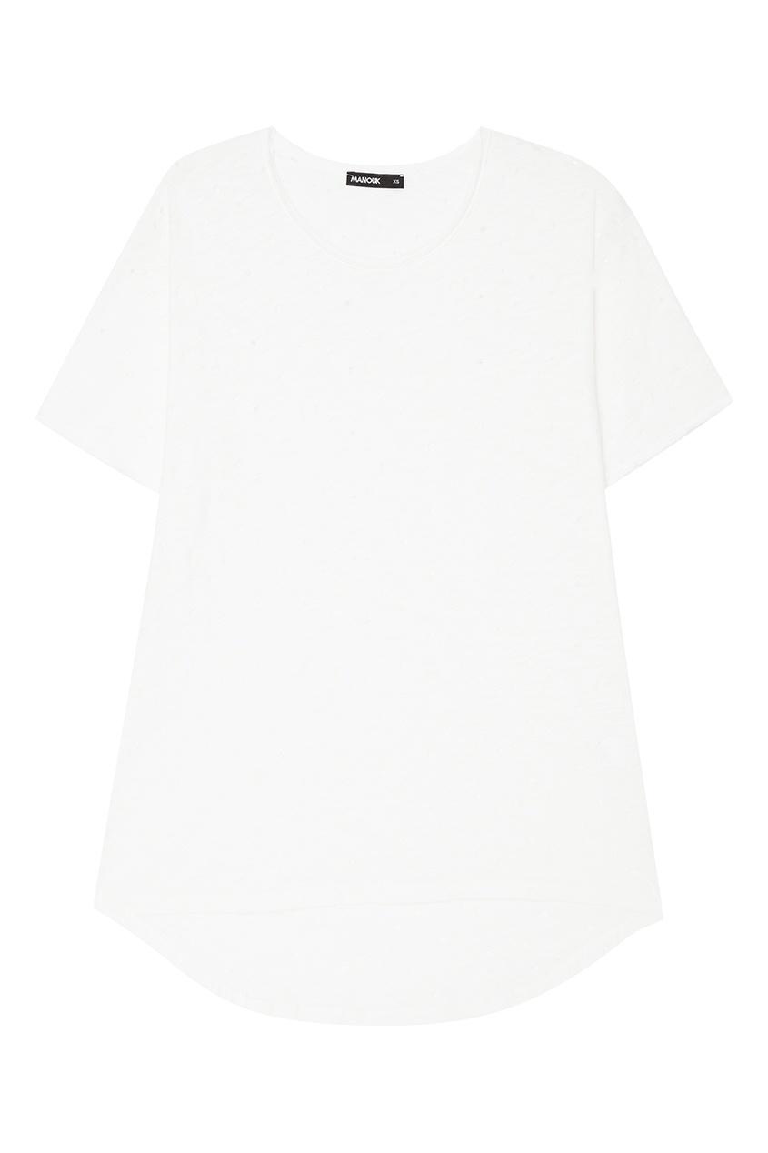 Хлопковая футболка с разрывами