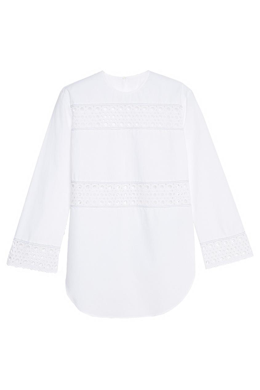 Блузка с ажурной отделкой