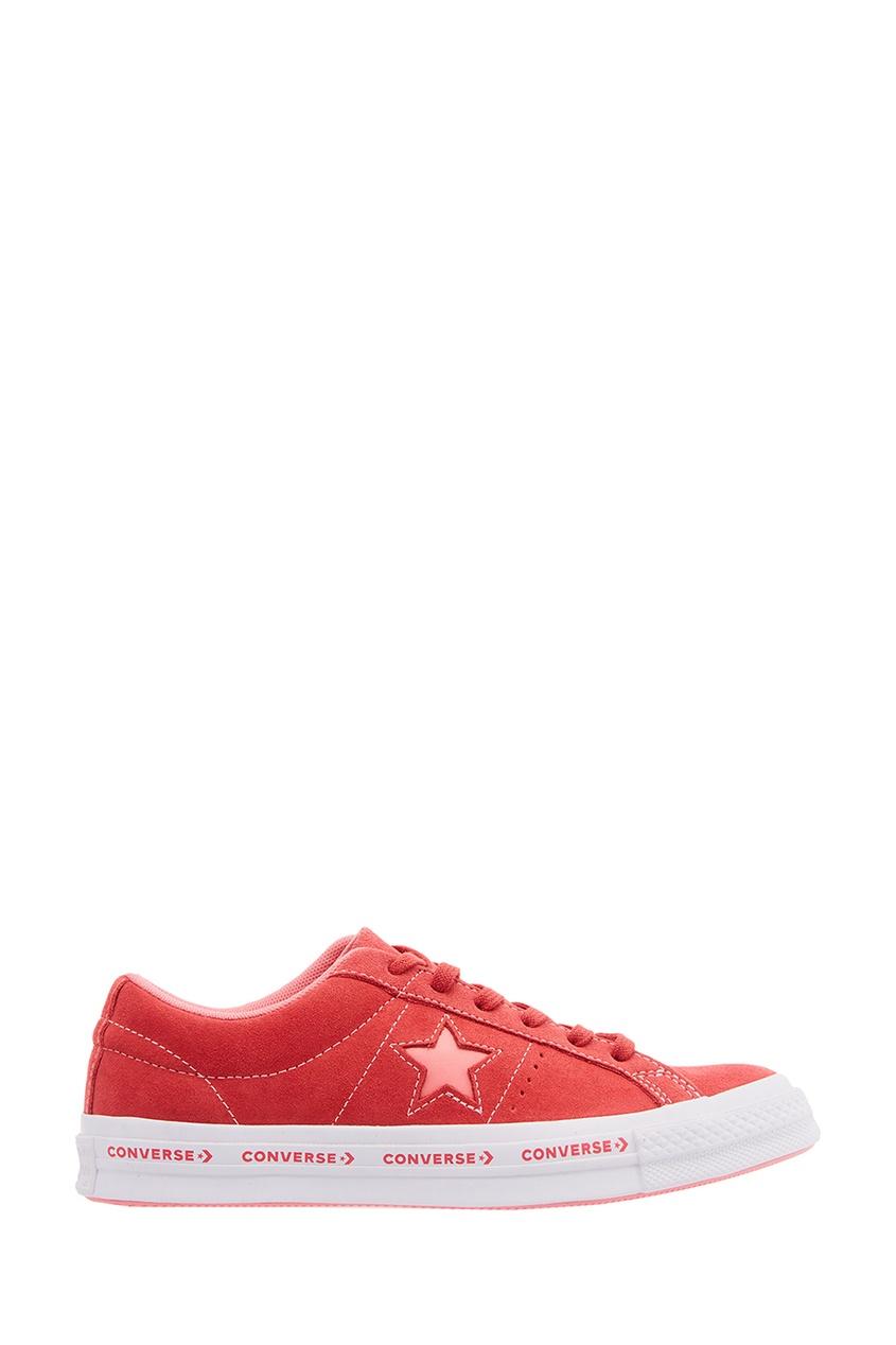 Красные замшевые кеды One Star