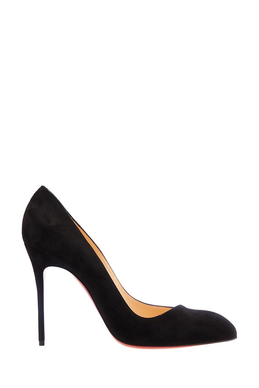 Черные замшевые туфли Corneille 100