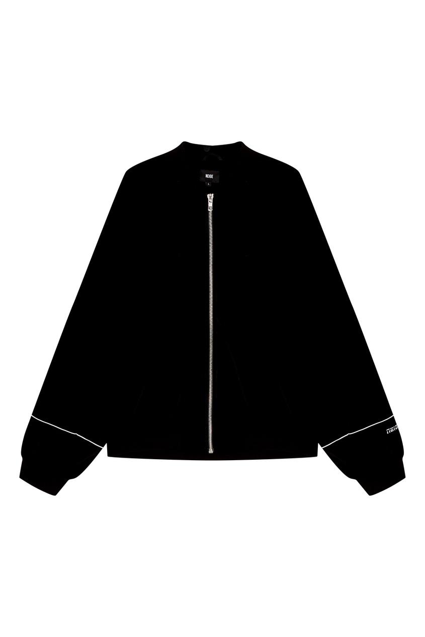Neige Черный бомбер из бархата бомбер printio мода 2017