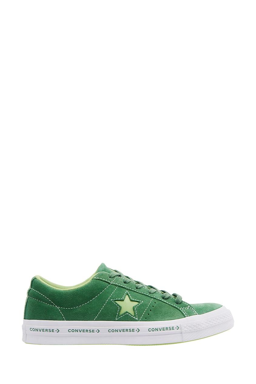 Зеленые замшевые кеды One Star
