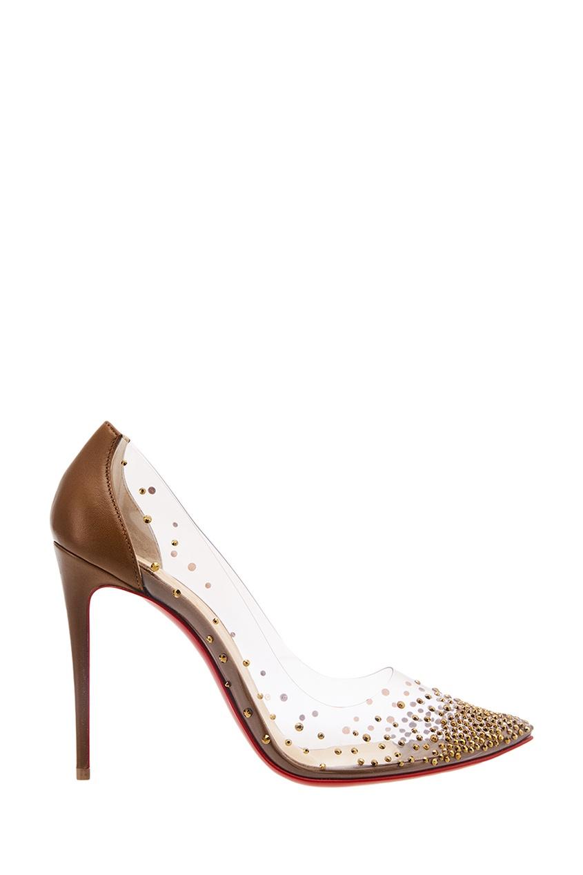 Коричневые туфли с кристаллами Degrastrass 100