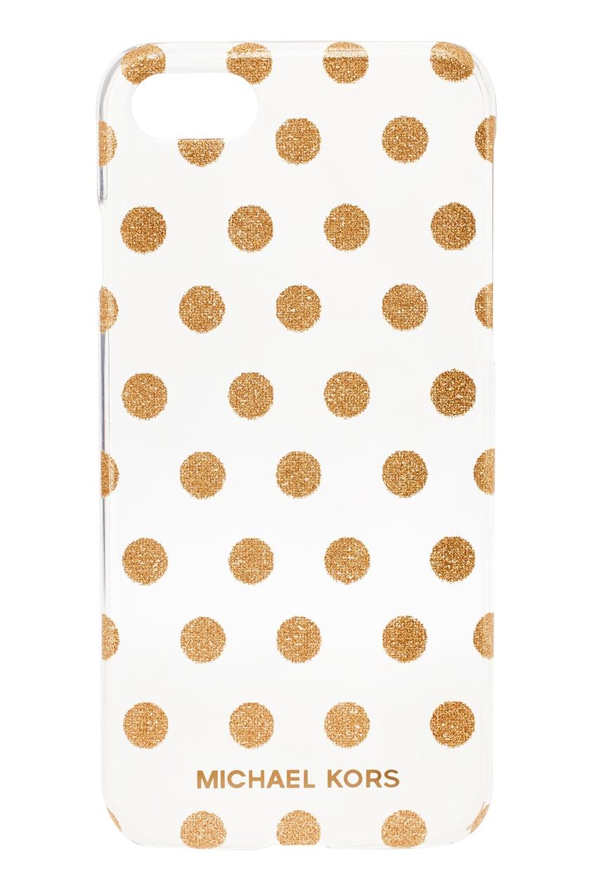 Michael Kors Чехол с золотистыми точками для iPhone 7/8 michael kors коричневые босоножки на танкетке page 7