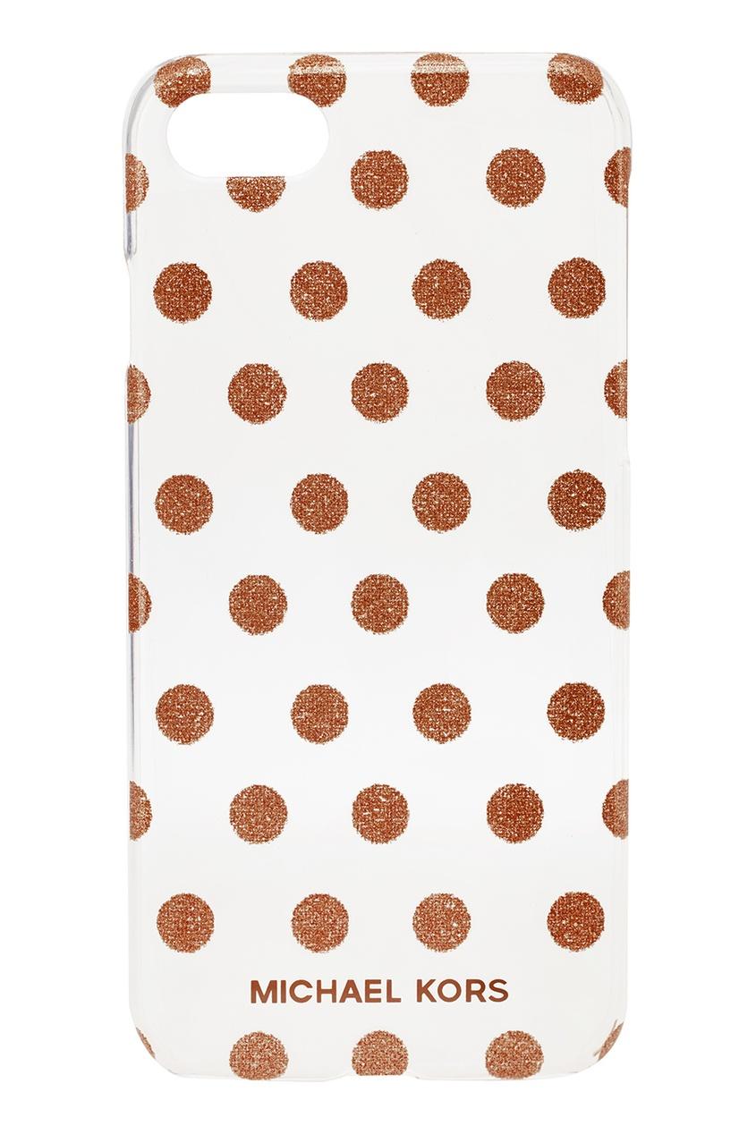 Michael Kors Пластиковый чехол с золотистыми точками для iPhone 7/8 michael kors коричневые босоножки на танкетке page 7