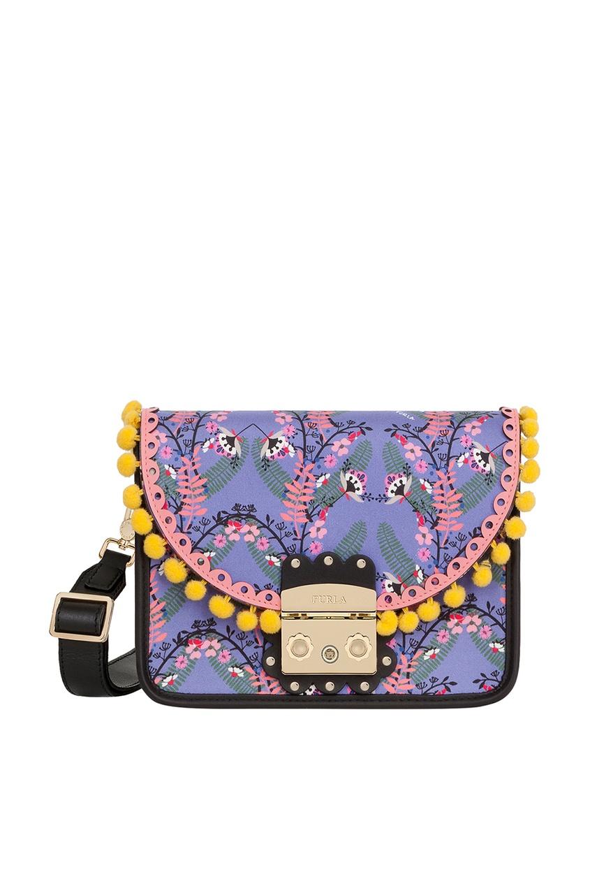 FURLA Синяя текстильная сумка Metropolis Serenissima кошелек furla furla fu003bwzle26