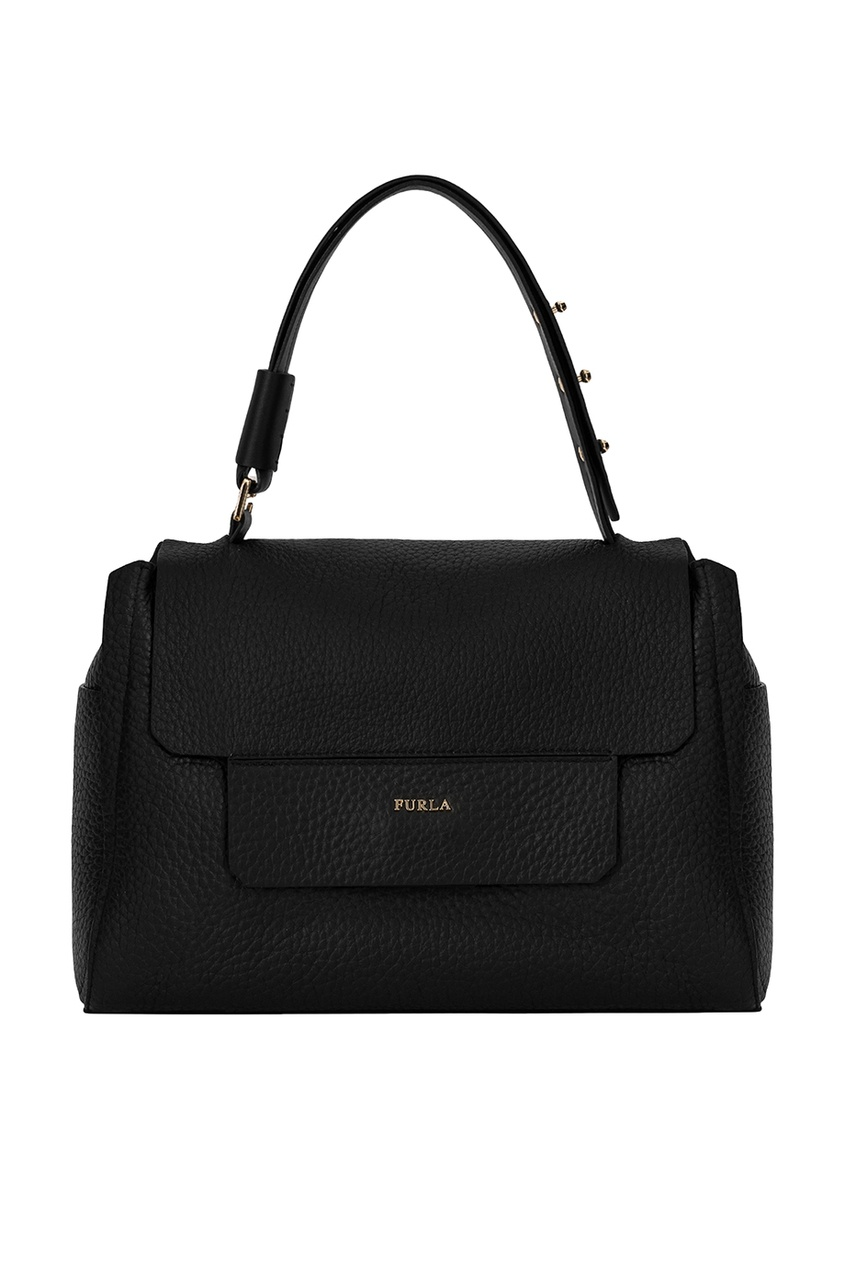 Купить со скидкой Черная кожаная сумка Capriccio