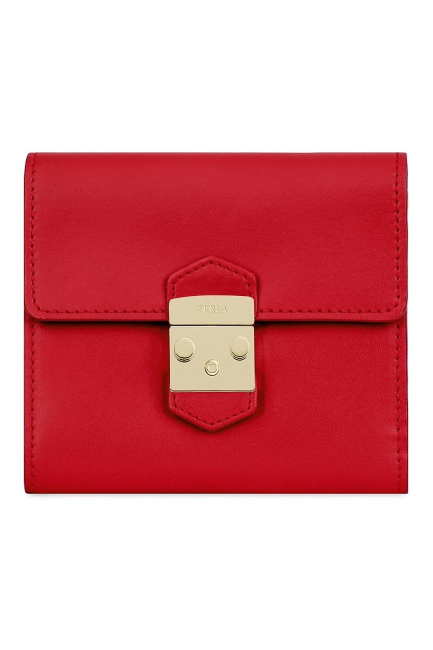 FURLA Красный кожаный кошелек Metropolis кошелек furla furla fu003bwtuj62
