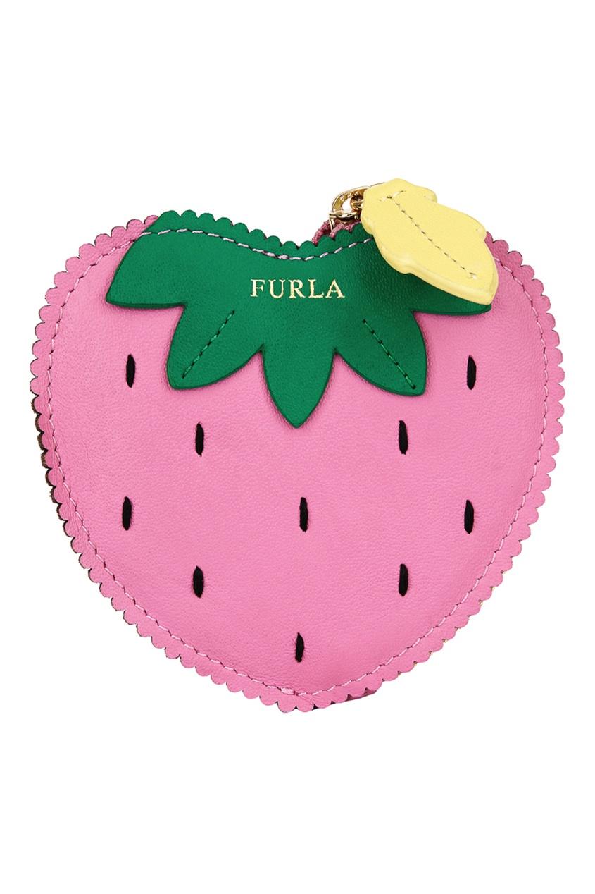 FURLA Розовый кошелек для монет Golosa
