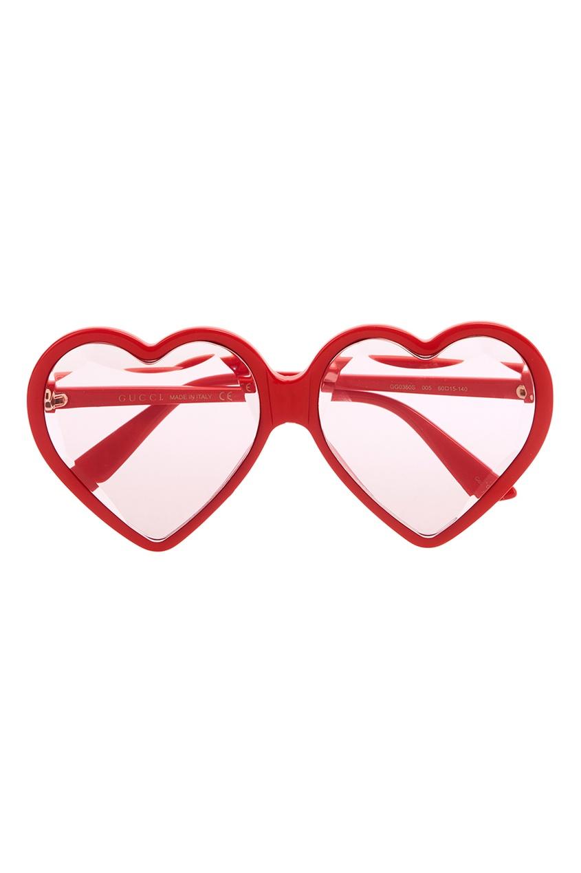 Красные солнцезащитные очки-сердца