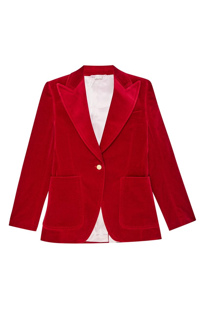 Gucci Красный жакет из бархата красный жакет